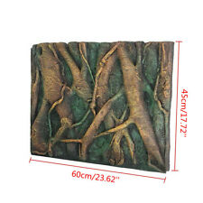 New listing 3D Pu Tree Root Reptile Aquarium Fish Tank Background Board Plate Decor 60x45cm