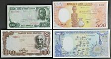 Guinea Lot of Four Notes 1979 100 & 1000 Bipkwele and 1985 500 & 1000 Francos