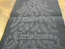 TRI CHEM  MERRY CHRISTMAS TREE PANEL  ARTS AND CRAFTS