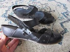 Miz Mooz Womens Bruna Wedge Slingback Sandal Whiskey Brown Size 38