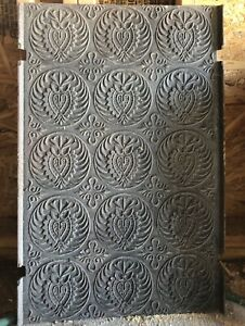 Antique Iron Fireplace Back Plate