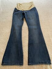 EUC KIMI & KAI MATERNITY Denim Jeans Med Wash Size 29 X 33 Flare Leg Pull On