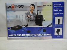 New AXESS MPWL1507-BK Professional Wireless Headset Microphone System