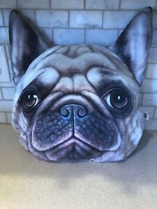 Dog Pug Face Pillow Cushion Plush - Soft & Cuddly By Miwo X-Dolls - SO SOFT!