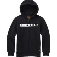 Burton Boy's Vault Full-Zip Hoodie, True Black, Small