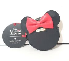 Disney Parks Kate Spade Minnie Mouse Ears Red Bow Zip Coin Purse Wallet