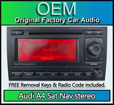 Audi A4 Sat Nav radio stereo, Audi BNS BNO satellite navigation, Code, Map Disc