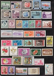 Colombia,Scott#685//730,MNH,Scott=$23