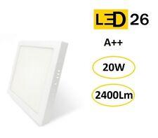 Plafón techo LED DownLight 20W panel superficie cuadrado 21 cm blanco LED26