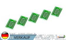 5Stück SOP16 SSOP16 TSSOP16 nach DIP 16 Adapter Board Platine für DIY Breadboard