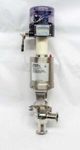 "Waukesha Cherry-Burrell W68011161 W68 T 1.5"" Electropneumatic Sanitary Valve"