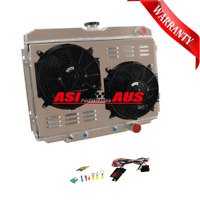 3ROW Radiator For FORD MUSTANG/FAIRLANE/RANCHERO 1967-70+Shroud Fan+Thermostat