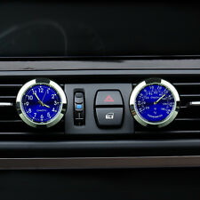 Car Auto Quartz Clock Watch +Temp Guage A/C Vent Clip Perfume Refill Storage