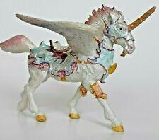 Fantasy Floral Winged Unicorn Pegasus PVC Figure By Papo 2009