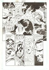 Aquaman #68 p.14 - Ocean Master vs. Aquaman & Tempest 2000 art by Steve Epting Comic Art
