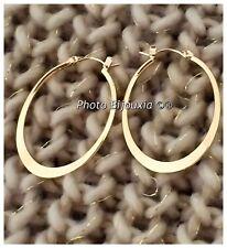 Boucles D'oreilles Créoles Ovales Plaqué Or 18Carats  Bijoux Femme
