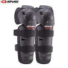 EVS Option Motorcycle Motorbike Reinforced Knee Guards Pair Adult - Black