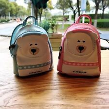 New China 2017 Starbucks Limited Edition Blue Or Pink Mini Bear Bag With Candy