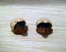 2 Mini Turtles Miniatures Animals Ceramic Handmade Figurines Collectibles Decor
