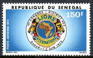 Senegal C121, MNH. 15th Congress of Lions Intl. District 403, Dakar. Emblem,1973