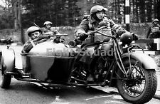 WW2 Picture Photo 1942 Indian 340 B with crew  1543