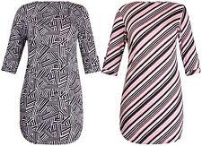Hüftlange Kurzarm Damenblusen, - tops & -shirts ohne Kragen für Business-Anlässe