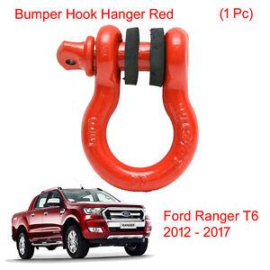 Bumper Tow Towing Hook Hanger Red Hamer Trim 1Pc For Ford Ranger T6 2012 - 2017