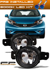 For 2014-2016 Nissan Versa Note Replacement Fog Lights Housing Clear Lens + LED