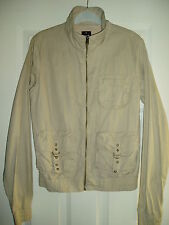 LADIES BENCH BEIGE/CREAM JACKET SIZE S ZIP MULTI POCKETS EXCELLENT CONDITION