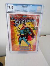 Superman #233 CGC 7.5 Classic Neal Adams Cover. DC Comics.