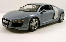 "Maisto 2008 Audi R8 1:24 scale 7.5"" diecast model car Light Blue M09"