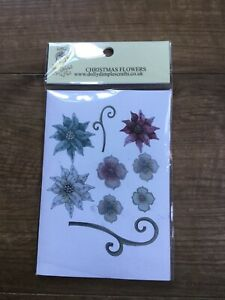 Dolly Dimples Chistmas Flowers Stamp Set 2020 Collection