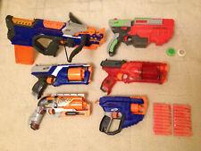 6 NERF Guns Spielzeugpistolen mit 20er Munition + 2 Disks Armbrust Zombietöter