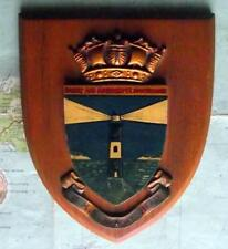 Old Vintage HMS Beachy Head Lighthouse Royal Navy Ship Badge Crest Shield Plaque