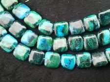 "12x12mm  Azurite Chrysocolla Gemstones   Loose Beads 15"""