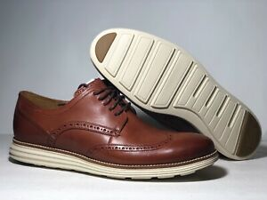 Genuine Cole Haan Grand Wingtip Mens Oxford Brown Leather Shoes C26471 Free Ship