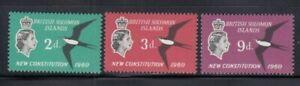 BRITISH SOLOMON ISLANDS New Constitution MNH set