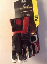 Scorpion LEATHER Kat Racing women  EXO SKELETAL ARMOUR Gloves  red/blk sz S