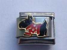 SCOTTIE DOG CHARM CLASSIC SILVER ITALIAN CHARM  fits all Italian bracelet AL4