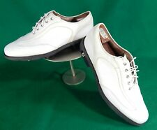 FootJoy ICON men's white leather golf shoes 10.5 bicycle toe