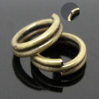 Metal Bronze Double Loop Split Open Jump Rings Connector Jewelry Making 4-14mm