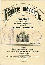 """FM794_PREGHIERE MELODICHE dedicate a ROMANO MUSSOLINI,Timbri vari """"ONB"""" ecc."""