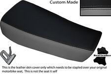 GREY & BLACK CUSTOM FITS HUSQVARNA CR 250 430 500 1983 ALLY TANK LTHR SEAT COVER
