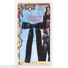Western Black Tie Cowboy Bow Knot Old West Costume Colonel Adult Cowgirl Sheriff