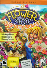 Flower Shop: Big City Break PC Game 2007 Gardening Full Version Oberon VISTA NEW