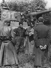 WW2 Photo German Tiger Commanders Meeting Pzkpfw. VI World War Two Wehrmacht