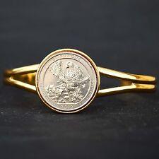 US 2012 Puerto Rico El Yunque National Park Quarter Coin GP Cuff Bracelet