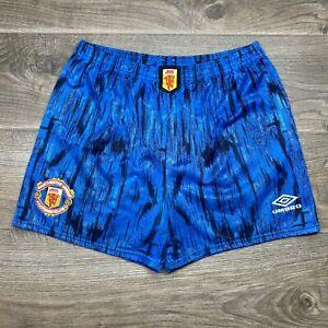 Manchester United 1992-1993 Away Vintage Umbro Shorts Football Soccer Rare