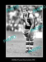 OLD 8x6 HISTORICAL PHOTO OF St KILDA FC GREAT TONY LOCKETT c1990s