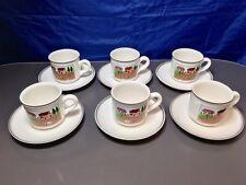 Villeroy & Boch Design Naif Set 6 pz Tazze Caffè grande c/Piat. -Coffee Cup -NEW